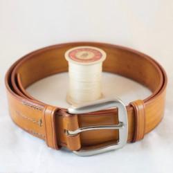 Ceinturon cuir patiné artisanal 40 mm