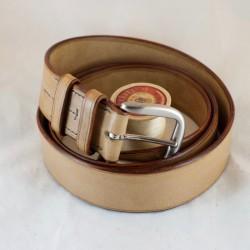 Ceinturon cuir camel 40 mm